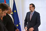 Spanish prime minister Mariano Rajoy and Ecuadorian prime minister Rafael Correa during the meeting at Moncloa Palace in Madrid, Spain. January 30th 2017. (ALTERPHOTOS/Rodrigo Jimenez)
