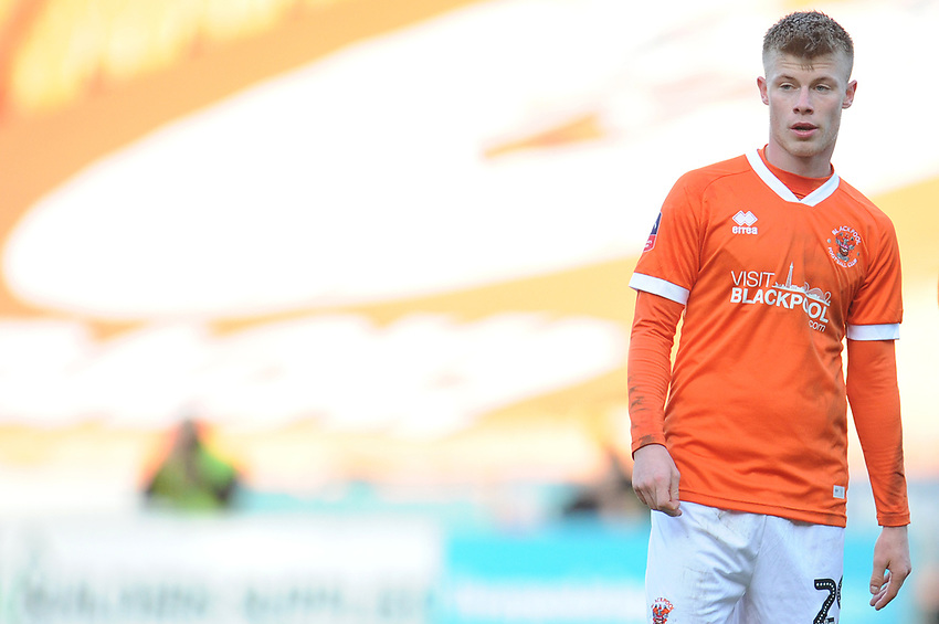 Blackpool's Calum MacDonald<br /> <br /> Photographer Kevin Barnes/CameraSport<br /> <br /> Emirates FA Cup Second Round - Blackpool v Maidstone United - Sunday 1st December 2019 - Bloomfield Road - Blackpool<br />  <br /> World Copyright © 2019 CameraSport. All rights reserved. 43 Linden Ave. Countesthorpe. Leicester. England. LE8 5PG - Tel: +44 (0) 116 277 4147 - admin@camerasport.com - www.camerasport.com
