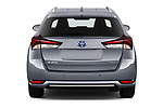 Straight rear view of a 2018 Toyota Auris Touring Sports Lounge 5 Door Wagon stock images