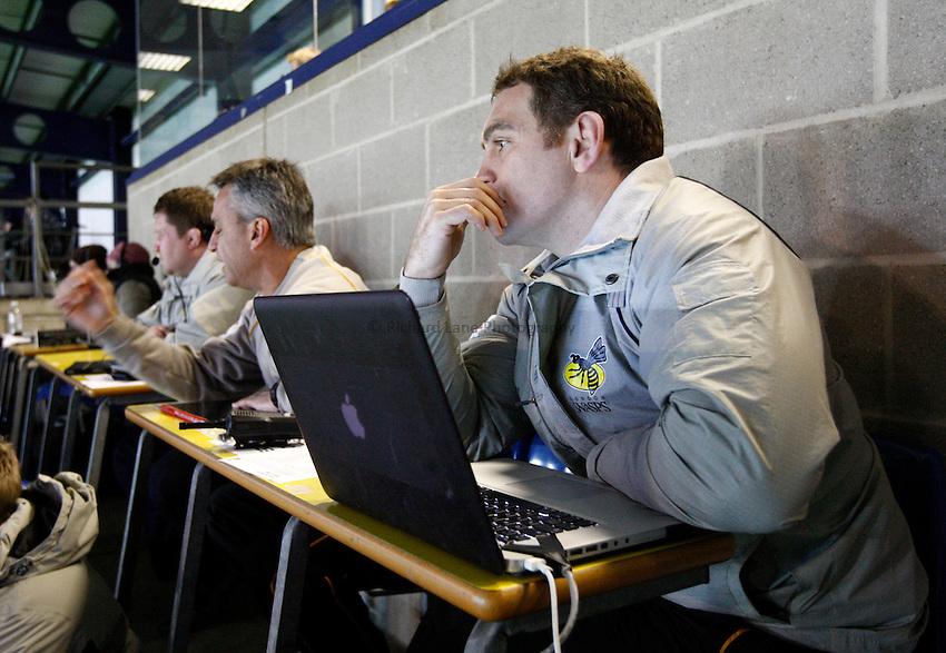 Photo: Richard Lane/Richard Lane Photography. London Welsh v London Wasps. 29/12/2012. Wasps' forwards coach, Trevor Woodman.