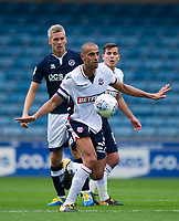 Bolton Wanderers' Darren Pratley holds off the challenge from Millwall's Steve Morison<br /> <br /> Photographer Ashley Western/CameraSport<br /> <br /> The EFL Sky Bet Championship - Millwall v Bolton Wanderers - Saturday August 12th 2017 - The Den - London<br /> <br /> World Copyright &not;&copy; 2017 CameraSport. All rights reserved. 43 Linden Ave. Countesthorpe. Leicester. England. LE8 5PG - Tel: +44 (0) 116 277 4147 - admin@camerasport.com - www.camerasport.com