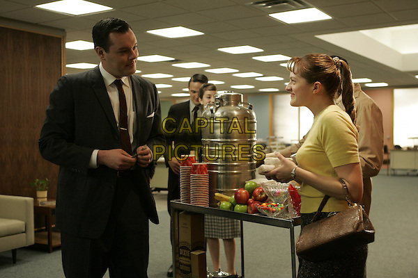 MICHAEL GLADIS, ELISABETH MOSS<br /> in Mad Men (Season 1)<br /> *Filmstill - Editorial Use Only*<br /> CAP/FB<br /> Image supplied by Capital Pictures