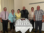 Alfie and Bernie Cooney celebrating their 50th wedding anniversary with Alfie's brothers Joe and Philip and sisters Catherine and Mary and Bernie's sister Ann in City North Hotel. Photo:Colin Bell/pressphotos.ie