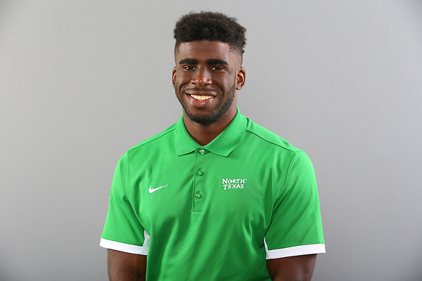DENTON, TX - JULY 18: University of North Texas Mean Green football and staff head shots at Athletic Complex on July 18, 2017 in Denton Texas. (Photo by Rick Yeatts)