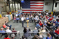 during a town hall meeting to discuss jobs and the economy at Diamond V, an animal nutrition company in Cedar Rapids, Iowa on Friday, December 9, 2011. (Christopher Gannon/MCT)