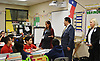 Superintendent Richard Carranza tours the Rice School.