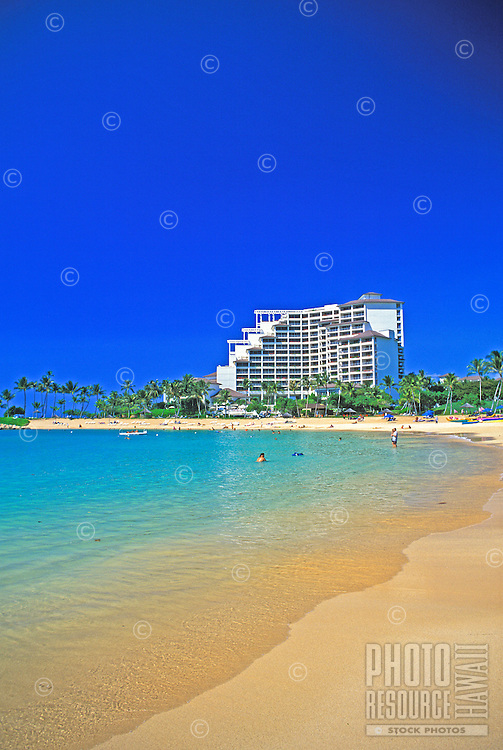 Quiet beaches and calm lagoon waters await visitors of the Ko'olina Resort Hotel on Oahu's leeward coast.