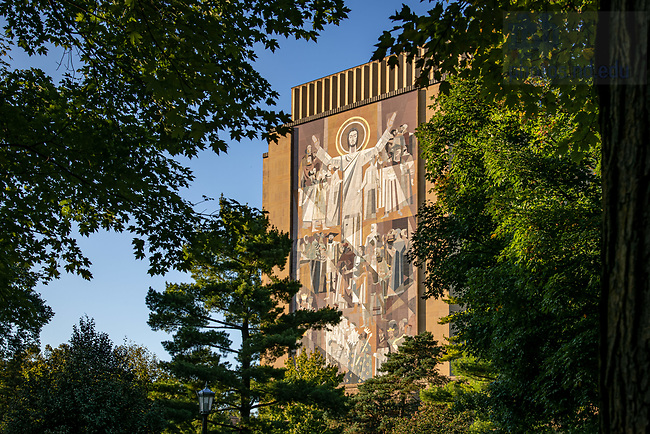 October 7, 2019; Word of Life mural on Hesburgh Library, commonly known as Touchdown Jesus (Photo by Matt Cashore/University of Notre Dame)