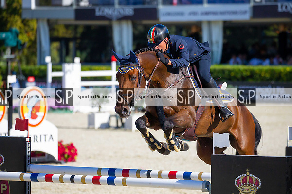 4th place. Luca Marziana riding Don't worry B. ITA. Negrita Cup. Longines FEI Jumping Nations Cup Final. Showjumping. Barcelona. Spain. Day 1.05/10/2018. ~ MANDATORY Credit Elli Birch/Sportinpictures - NO UNAUTHORISED USE - 07837 394578