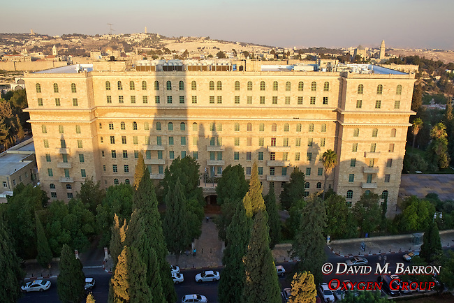 View Of King David Hotel From YMCA Tower