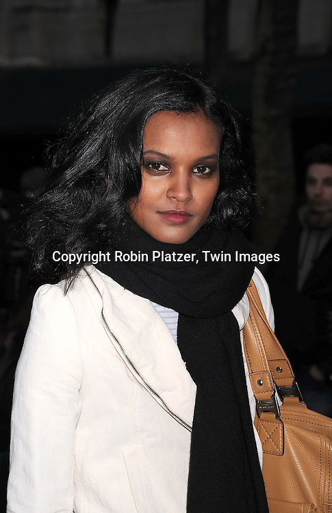 Liya Kebede..arriving at The Mercedes-Benz Fashion Week New York..Fall 2008 Collections of Tracy Reese and Diane von Furstenberg on February 3, 2008 in New York City in ..Bryant Park. ..Robin Plater, Twin Images....212-935-0770
