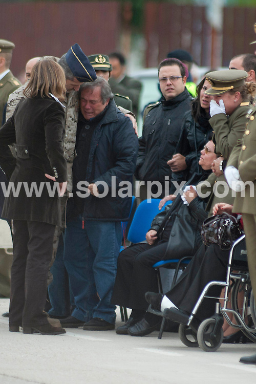 **ALL ROUND PICTURES FROM SOLARPIX.COM**                                             **WORLDWIDE SYNDICATION RIGHTS EXCEPT SPAIN - NO SYNDICATION IN SPAIN**                                                                                  Caption: Repatriation of the body of Spanish First sergeant  Joaquin Moya, who died in combat in Afganistan by a sniper at Torrejon de Ardoz Air Base in Madrid .Joaquin has been awarded by the Defence Minister Carme Chacon The  Grand Cross of Military Merit .            .                                                                                          JOB REF: 14165       DMS       DATE:   07.11.2011                                                         **MUST CREDIT SOLARPIX.COM OR DOUBLE FEE WILL BE CHARGED**                                                                      **MUST AGREE FEE BEFORE ONLINE USAGE**                               **CALL US ON: +34 952 811 768 or LOW RATE FROM UK 0844 617 7637**