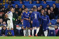 Ruben Loftus-Cheek of Chelsea replaces Ross Barkley in the second half during Chelsea vs Dynamo Kiev, UEFA Europa League Football at Stamford Bridge on 7th March 2019