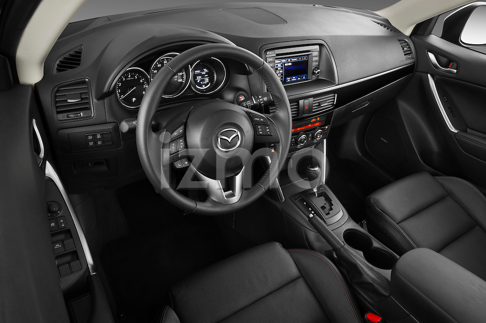 High angle dashboard view of a 2013 Mazda CX-5 GT