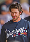 14 March 2016: Atlanta Braves infielder Dansby Swanson, ranked the Number One Top Prospect in the Braves organization for 2016 by both MLB and Baseball America, walks the dugout during a Spring Training pre-season game against the Tampa Bay Rays at Champion Stadium in the ESPN Wide World of Sports Complex in Kissimmee, Florida. The Braves shut out the Rays 5-0 in Grapefruit League play. Mandatory Credit: Ed Wolfstein Photo *** RAW (NEF) Image File Available ***