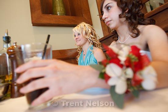 Salt Lake City - Dinner before high school senior prom at Biaggi's. April 18, 2009.
