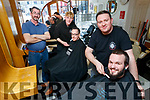 Pictured at Claude Monte, Barber Shop, Tralee, on Friday last as they are taking part in a Movember Charity Shave, on November 30th, l-r: Paul Horan Senior, Joel Vesey (Claude Monte, Barbert Shop) Paul Horan Junior, Darryl Vesey and Justin Duggan.