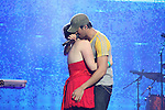 Enrique Iglesias with a 16 year old fan on stage at the Cheerios Childline Concert 2008 at the 2008 Cheerios Childline Concert in the O2...Photo NEWSFILE/Jenny Matthews.(Photo credit should read Jenny Matthews/NEWSFILE)....This Picture has been sent you under the condtions enclosed by:.Newsfile Ltd..The Studio,.Millmount Abbey,.Drogheda,.Co Meath..Ireland..Tel: +353(0)41-9871240.Fax: +353(0)41-9871260.GSM: +353(0)86-2500958.email: pictures@newsfile.ie.www.newsfile.ie.FTP: 193.120.102.198.