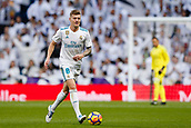 9th December 2017, Santiago Bernabeu, Madrid, Spain; La Liga football, Real Madrid versus Sevilla; Toni Kroos of Real Madrid in action
