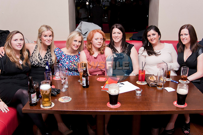 Sandra Nally, Centre, having a going away party, before she leaves for Australia, with friends in Bru..Photo: Shane Maguire/Newsfile.ie