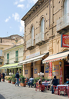 Italy, Calabria, beach resort Protea: restaurant, cafe at old town