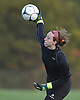 Jackie Carty, East Islip goalie, throws a ball to a teammate during a Suffolk County Class AA varsity girls soccer first round playoff game against North Babylon at East Islip High School on Monday, Oct. 24, 2016. She made 12 saves in East Islip's 1-0 win.