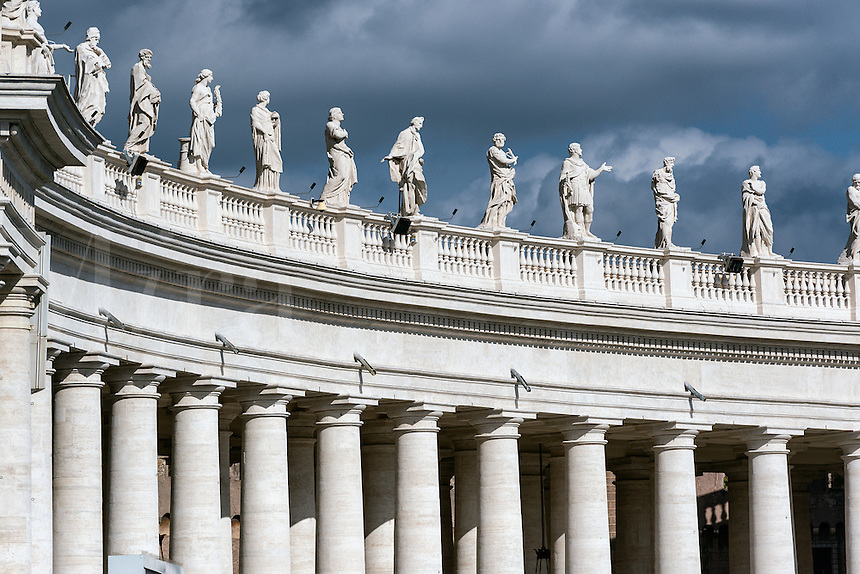Bernini's colonnade, Vatican City, Rome, Italy
