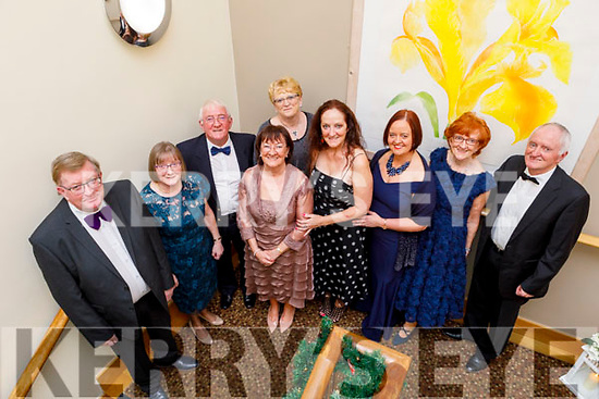 Richard Kelter, Tom Dillon, Rose Burke, Camille Ryan and James Kelter, Marie Kelter, Avril O'Shea, Pamela Teahan and Ruth Kelter attending the Fenit Lifeboats 25th Anniversary Black Tie Charity Ball in Ballyroe Heights Hotel on Saturday.