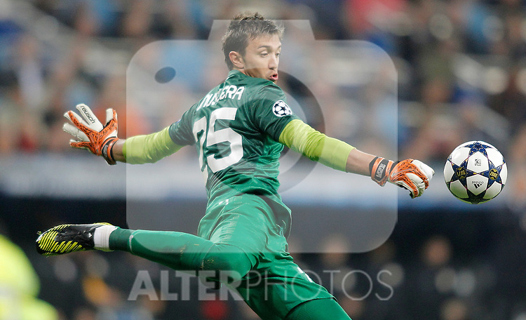 Galatasaray's Fernando Muslera during UEFA Champions League match. April 03, 2013. (ALTERPHOTOS/Alvaro Hernandez)