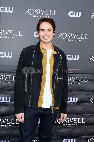"""WEST HOLLYWOOD, CA - JANUARY 10:  Tyler Blackburn at the """"Roswell, New Mexico"""" Experience at the 8801 Sunset Blvd on January 10, 2019 in West Hollywood, CA Credit: David Edwards/MediaPunch"""