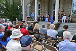 Glenna Smith, with Senator Dean Heller's office, speaks at the USS Nevada Centennial of Launch ceremony at the Capitol, in Carson City, Nev., on Friday, July 11, 2014.<br /> Photo by Cathleen Allison