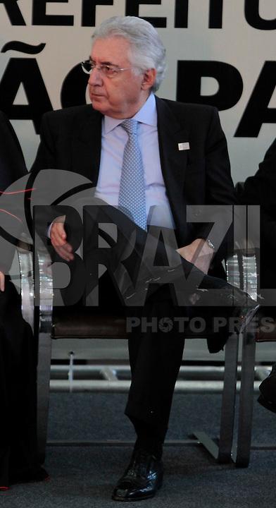 SAO PAULO, SP, 25 DE JANEIRO DE 2012 - ENTREGA MEDALHA 25 DE JANEIRO - Vice Governador Guilherme Afif durante cerimonia de entrega da Medalha 25 de Janeiro na sede da Prefeitura de Sao Paulo, na regiao central da capital paulista nessa quarta-feira, 25. FOTO: VANESSA CARVALHO - NEWS FREE.