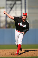 Stephen Strasburg of the San Diego State Aztecs pitches in a NCAA baseball game at Tony Gwynn Stadium during the 2009 season in San Diego, California. (Larry Goren/Four Seam Images)