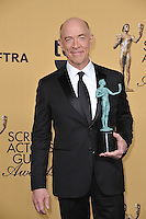 J.K. Simmons at the 2015 Screen Actors Guild  Awards at the Shrine Auditorium.<br /> January 25, 2015  Los Angeles, CA<br /> Picture: Paul Smith / Featureflash
