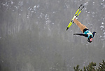 16 January 2009: Nadiya Didenko from the Ukraine performs aerial acrobatics during the FIS Freestyle World Cup warm-ups at the Olympic Ski Jumping Facility in Lake Placid, NY, USA. Mandatory Photo Credit: Ed Wolfstein Photo. Contact: Ed Wolfstein, Burlington, Vermont, USA. Telephone 802-864-8334. e-mail: ed@wolfstein.net