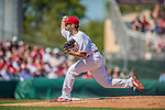 4 March 2013: St. Louis Cardinals pitcher Lance Lynn in action during a Spring Training game against the Minnesota Twins at Roger Dean Stadium in Jupiter, Florida. The Twins shut out the Cardinals 7-0 in Grapefruit League play. Mandatory Credit: Ed Wolfstein Photo *** RAW (NEF) Image File Available ***
