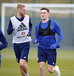 09.10.2018 Scotland training, Oriam: Oli McBurnie and John Souttar
