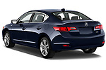 Car pictures of rear three quarter view of 2013-2014 Acura ilx hybrid 5 Door Sedan angular rear