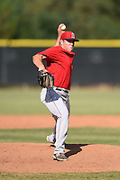 Los Angeles Angels of Anaheim pitcher Greg Mahle (60) during an Instructional League game against the Milwaukee Brewers on October 9, 2014 at Tempe Diablo Stadium Complex in Tempe, Arizona.  (Mike Janes/Four Seam Images)