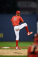 Williamsport Crosscutters relief pitcher Manuel Silva (11) delivers a pitch during a game against the Mahoning Valley Scrappers on August 28, 2018 at BB&T Ballpark in Williamsport, Pennsylvania.  Williamsport defeated Mahoning Valley 8-0.  (Mike Janes/Four Seam Images)