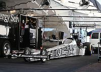 Feb 3, 2016; Chandler, AZ, USA; NHRA top fuel driver Dave Connolly during pre season testing at Wild Horse Pass Motorsports Park. Mandatory Credit: Mark J. Rebilas-USA TODAY Sports