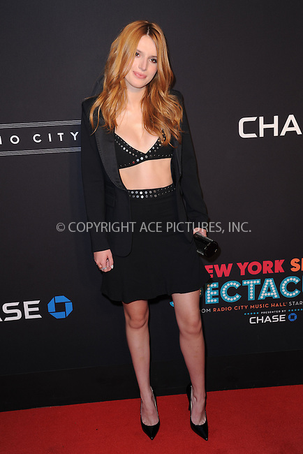 WWW.ACEPIXS.COM<br /> March 26, 2015 New York City<br /> <br /> Bella Thorne attending the 2015 New York Spring Spectacular at Radio City Music Hall on March 26, 2015 in New York City.<br /> <br /> Please byline: Kristin Callahan/AcePictures<br /> <br /> ACEPIXS.COM<br /> <br /> Tel: (646) 769 0430<br /> e-mail: info@acepixs.com<br /> web: http://www.acepixs.com