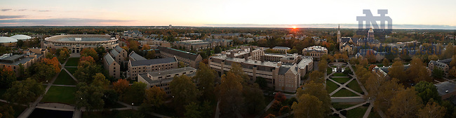 Panoramic image of campus, fall 2007...Photo by Matt Cashore/University of Notre Dame