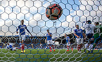 Paris Cowan-Hall of Wycombe Wanderers goal during the FA Cup 1st round match between Portsmouth and Wycombe Wanderers at Fratton Park, Portsmouth, England on the 5th November 2016. Photo by Liam McAvoy.