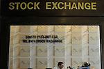 The entrance to The Tel Aviv Stock Exchange LTD, in Tel Aviv, Israel.<br /> November 18, 2008<br /> Photo by Ahikam Seri