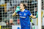 ***BETALBILD***  <br /> Solna 2015-05-10 Fotboll Allsvenskan AIK - IFK Norrk&ouml;ping :  <br /> Norrk&ouml;pings m&aring;lvakt David Mitov Nilsson reagerar under matchen mellan AIK och IFK Norrk&ouml;ping <br /> (Foto: Kenta J&ouml;nsson) Nyckelord:  AIK Gnaget Friends Arena Allsvenskan IFK Norrk&ouml;ping portr&auml;tt portrait