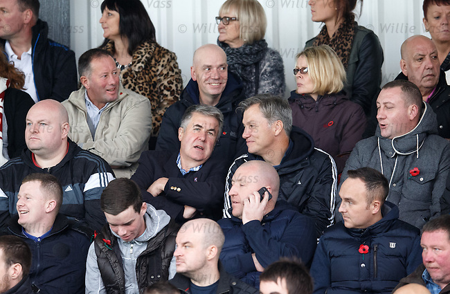 Ex-chairman Malcolm Murray sitting in the stand with the Rangers fans