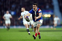 Thomas Ramos of France looks to gather the ball. Guinness Six Nations match between England and France on February 10, 2019 at Twickenham Stadium in London, England. Photo by: Patrick Khachfe / Onside Images