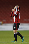 Billy Sharp of Sheffield Utd dejected during the English League One match at Bramall Lane Stadium, Sheffield. Picture date: November 29th, 2016. Pic Simon Bellis/Sportimage
