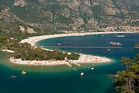 Turkey, Mula, Olu Deniz near Fethiye: Lagoon Beach | Tuerkei, Mula, Olu Deniz bei Fethiye: Blick ueber die blaue Lagune